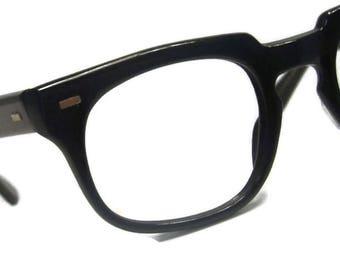Vintage 60s Black Horned Rim Eyeglasses