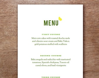 Green and Yellow Butterfly Wedding Menu Template - Wedding Menu - Printable Menu Template - Menu Template - Menu Cards - Printable Menu PDF