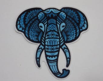 Animal  Iron-on Patch. Embroidered Patch. Sew-On Patch. Majestic Elephant Patch