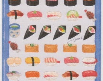 Sushi Stickers - Japanese Stickers - Japanese Food Stickers - Mind Wave Stickers - Reference A5806-08H6010-11L6598-99