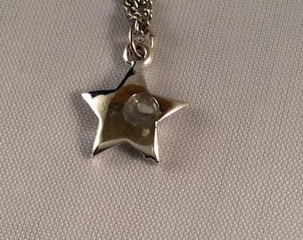 Dainty Silver Start Necklace