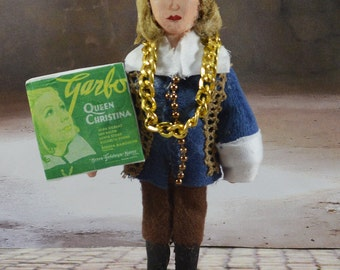 Greta Garbo as Queen Christina Golden Hollywood  Art in Miniature Celebrity Doll
