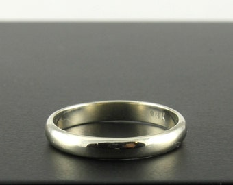 14K Gold 3x1.3mm Wedding Band - Simple and Classic Band - Half Round Ring - White Yellow Rose Gold
