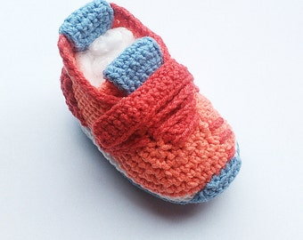 Crochet baby sneakers, Crochet Adidas Pure Boost style baby shoes, Crochet sneakers, Infant booties, Shower gift, Photo prop