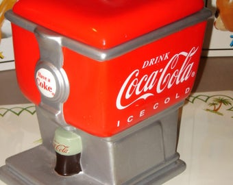 Coca Cola Fountain Cookie Jar