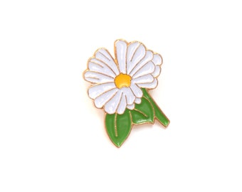 Daisy, daisy enamel pin, daisy pin, flower enamel pin, floral, nature enamel pin, nature, daisy brooch, lapel pin, flower brooch, cute