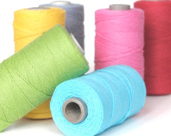 Colourful Cotton Twine for Crafting, Presents & Finishing Touches