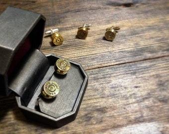 Custom bullet cuff links