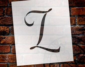 L  -Graceful Monogram Stencil  - Select Size - STCL1912 - by StudioR12