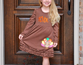 Thanksgiving Dress - toddler girl dress, baby girl dress, little girl dress