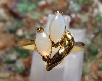 Vintage Costume Opal Ring
