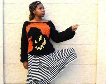 The Nightmare Crochet Sweater Pattern. Instant Download!