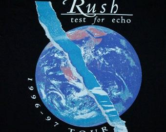 L * NOS vtg 90s 1997 RUSH Test For Echo tour t shirt * 75.135