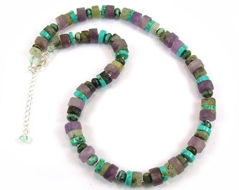 Gemstone Wheel Necklace