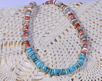 Spiny Oyster Shell Turquoise Necklace Pendant Sterling Silver Gemstone necklace