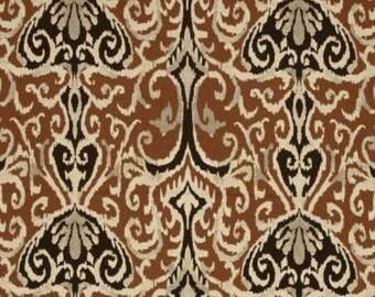 "Custom shower curtain, Magnolia winchester ikat chocolate brown, cotton 72 x 72"" , 72 x 84, 72 x 90"" , 96""' 108"""