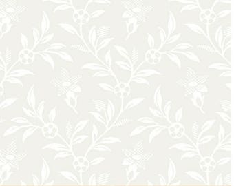Touch of Grey Toasted Almond Tonal Floral Neutral by Whistler Studios for Windham Fabrics By The Yard
