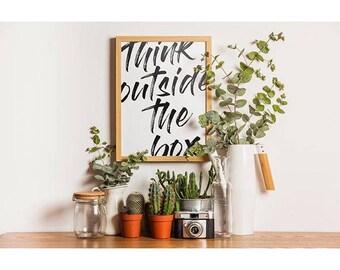Think outside the box - A4 print - home decor