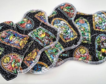 Stained Glass Zelda ~ Cloth Pads ~ Reusable Pads ~ Cloth Panty Liner ~ Mama Cloth ~ Cloth Sanitary Pads ~ Feminine Pads ~ Cloth Pad Set