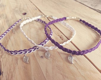Braided Leaf Anklet