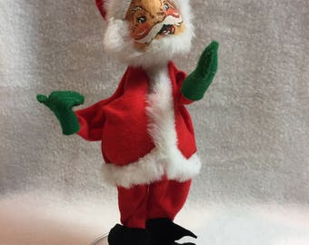 Annalee Dolls - Santa Claus in Red Suit on Wire Stand - 1963 (#001)