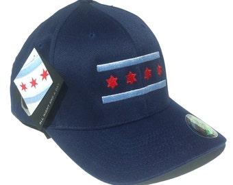 Navy Chicago Flag Hat