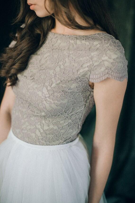 Wedding dress Grey lavender Dusty lavender lilac