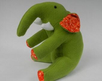 Elephant, Green elephant, Elephant stuffed animal, Elephant Plushie, Elephant Stuffed Toy, Stuffed animal, Elephant plush animal