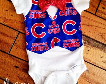 Chicago Cubs Baby Onesie, Cubs Outfit, Chicago Onesie, Cubs Baby Gift, Cubs Baby Shower, Cubs Baseball Gift, Chicago Cubs baby gift