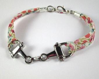 Riding jaws of liberty Loveday - pink blue NET bracelet