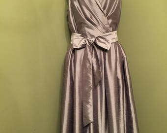 Vintage Sleeveless Metallic Dress