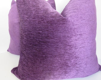 Plum Pillow Coveres, Lilac Velvet Pillow Covers,  Decorative Pillow Covers , Plum Pillows , Accent Pillow- Home Pillow-