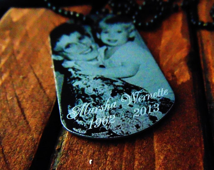 Memorial Dog Tag -  Handwriting Option - Personalized Text on Back - Remembrance Gift -