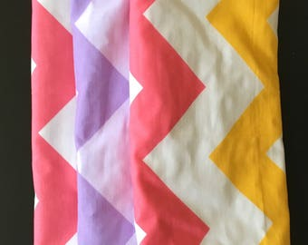 Set of 3 Burp Cloths in Pink, Purple and Multi