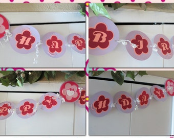 Hello Kitty Party Complete Birthday Decor Pack Banner, Cupcake Picks, Door Hanger, Ceiling Swirls, Confetti 100 pcs. Discounted