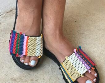 Sandals, Greek Sandals, Leather Sandals, Boho sandals, Leather platforms, Woven sandals, Crochet Sandals,  Summer sandals, Made in Greece