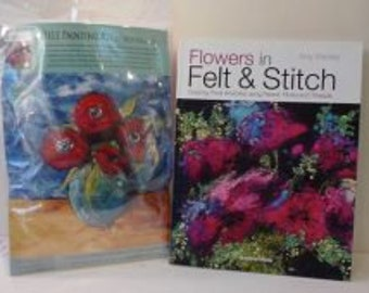 Red flowers -  Felt Kit & Book offer