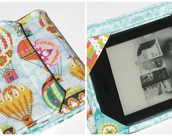 Nook Glowlight Plus Standable Case, Kindle Paperwhite Case, Kindle Fire HD Cover, all sizes, Air Balloon Tablet Cover