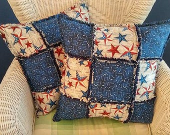 Custom Rag Quilt Pillows