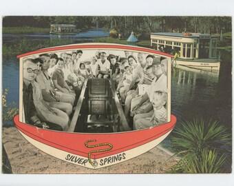 Silver Springs, FL Souvenir Photo in Paper Frame, c1950s (72548 O/S)