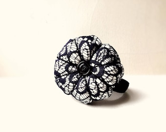 Black Lacy Handmade Wrist Pin Cushion
