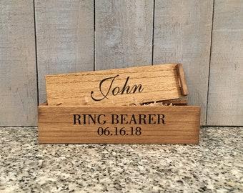 Ring Bear Box Wedding Party Gift Wood Treasure Box Art Supply Box
