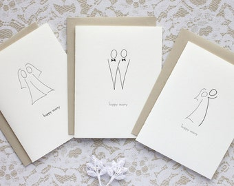 Happy Marry - letterpress card