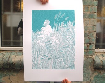 Heather - Limited Edition Silk Screen Print