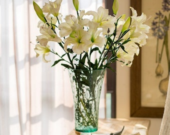 "Rustic Real Touch Lily Stem in White 34"" Tall"