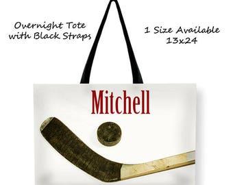 Large Tote Bag-Hockey Tote Bag-Ice Hockey Bag-Cross BodyTote Bag-Shoulder Tote Bag-Ice Hockey Bag-Sports Tote-Team Mom Gift-Coach Gift