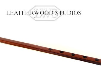 Wooden Spanking Paddle in Exotic Padauk  with countersunk holes and plain holes Mature