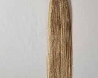 18″ 100grams,100strands ,Nano Ring (Nano Tip) 100% Remy Human Hair Extensions #18/613 Dark Blonde mixed with Platinum Blonde