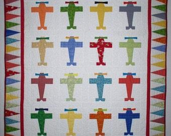 Fly Boy Baby Quilt Pattern - PDF Version