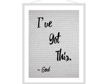 God Talking Set of 5- Rope Background Digital Prints 8x10